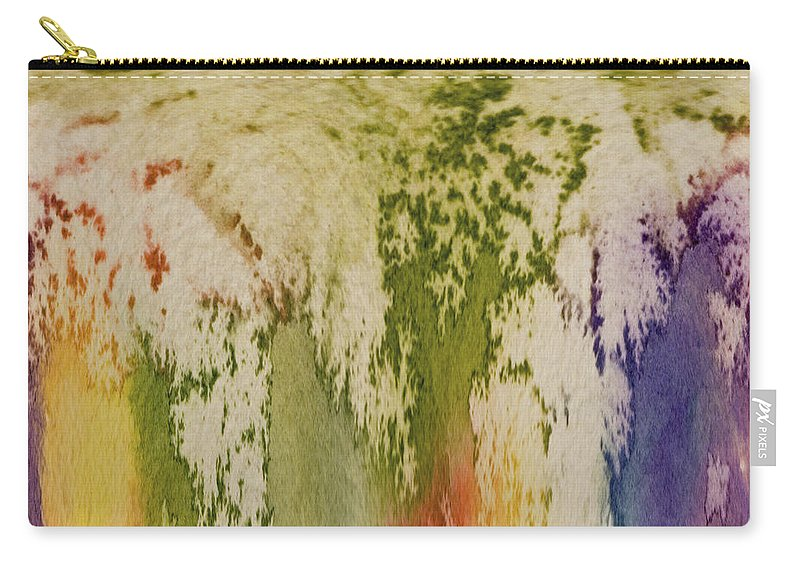 Rainbow Carry-all Pouch featuring the painting Rainbow Falls by Joanne Smoley