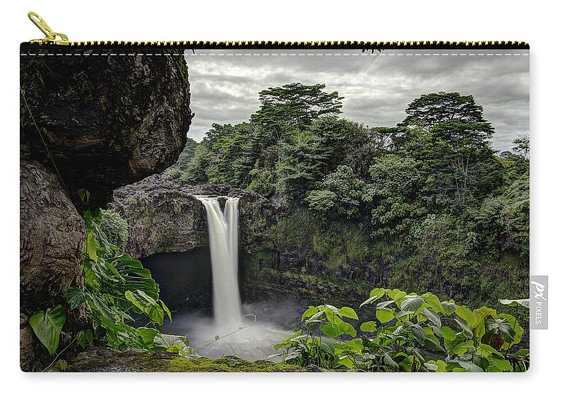 Rainbow Falls Carry-all Pouch featuring the photograph Rainbow Falls by Mike Herdering