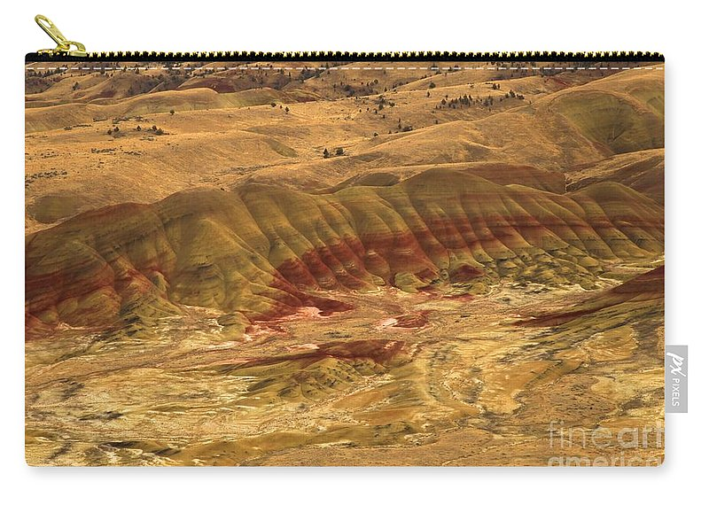 John Day Fossil Beds Carry-all Pouch featuring the photograph Rainbow Hills by Adam Jewell