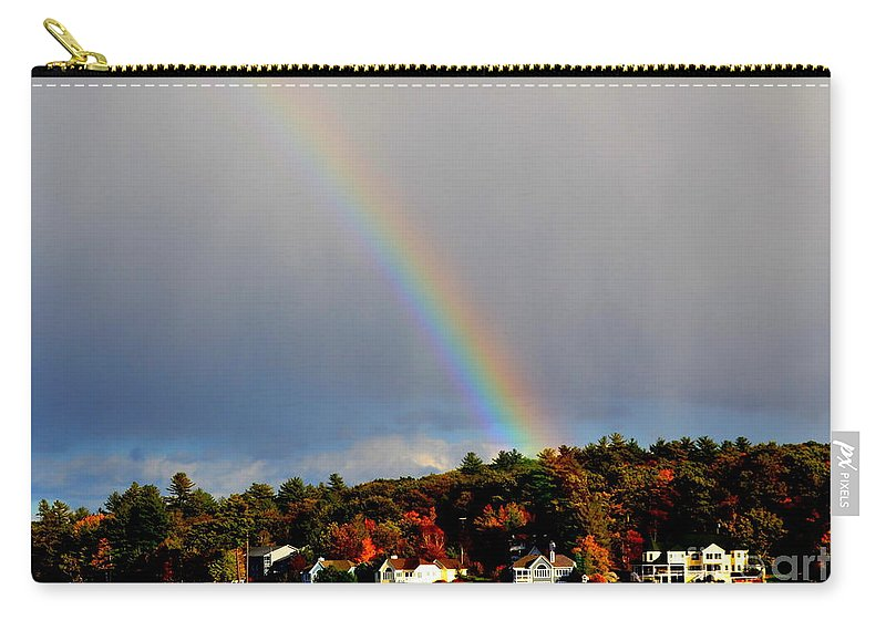 Lake Carry-all Pouch featuring the photograph Rainbow Over Winnepesaukee by Kevin Fortier