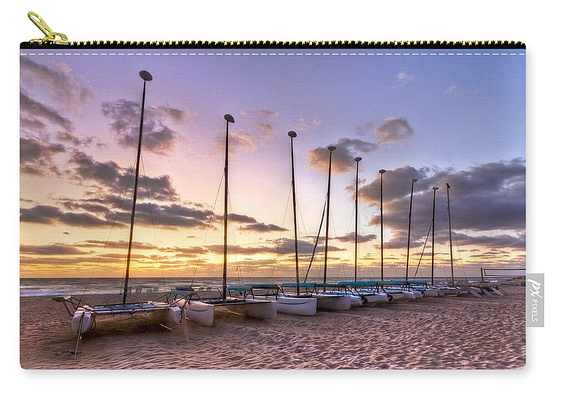 Boats Carry-all Pouch featuring the photograph Rainbow Skies by Debra and Dave Vanderlaan