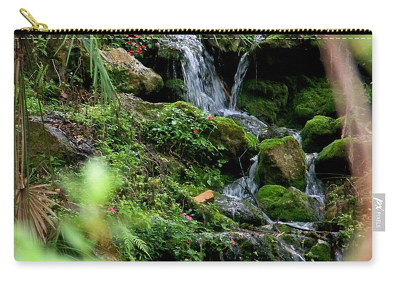 Nature Carry-all Pouch featuring the photograph Rainbow Springs Waterfall by Judy Wanamaker