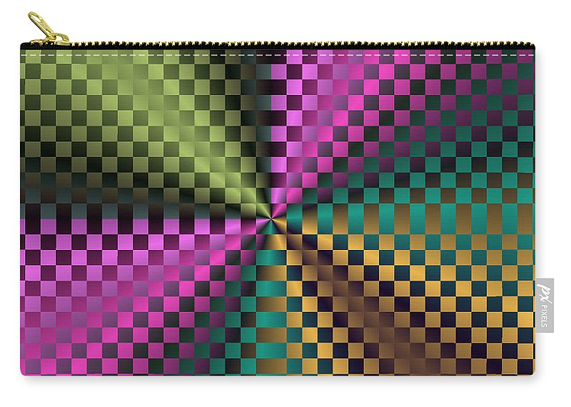 Fractal Carry-all Pouch featuring the photograph Rainbow Squares by Mother Nature