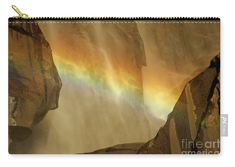 Yosemite National Park Carry-all Pouch featuring the photograph Rainbow Vision by Adam Jewell