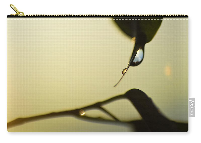 Abstracts Carry-all Pouch featuring the photograph Raindrops Like Tears by Guido Montanes Castillo