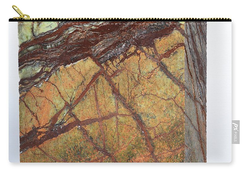 Geology Carry-all Pouch featuring the photograph Rainforest Green Marble by Photo Researchers, Inc.