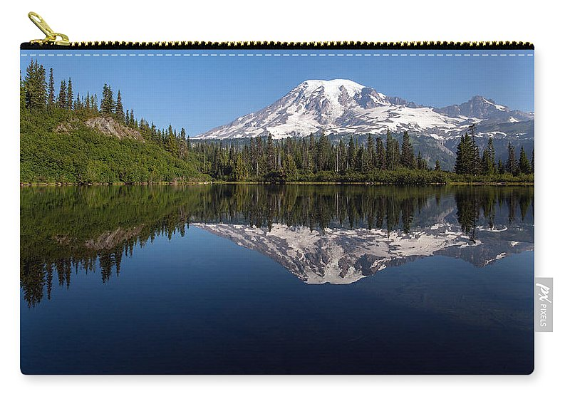 Rainier Carry-all Pouch featuring the photograph Rainier Clarity by Mike Reid