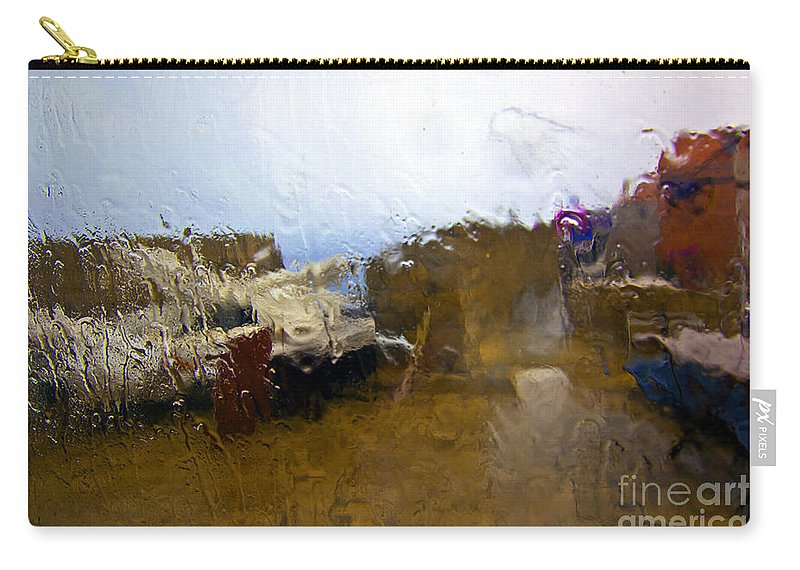 Abstract Carry-all Pouch featuring the photograph Rainy Day Abstract by Madeline Ellis