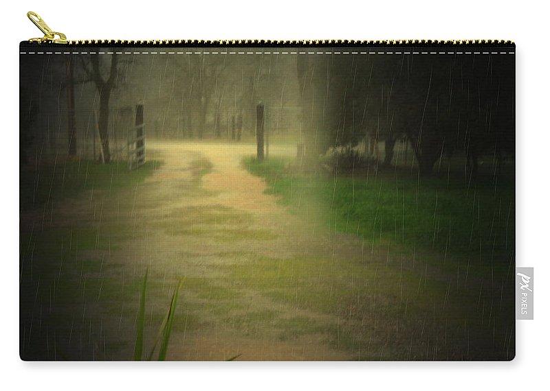Rain Carry-all Pouch featuring the photograph Rainy Daze Again by Joyce Dickens