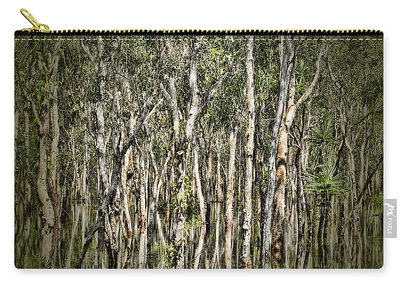 Trees Carry-all Pouch featuring the photograph Rainy Season Reflections by Douglas Barnard
