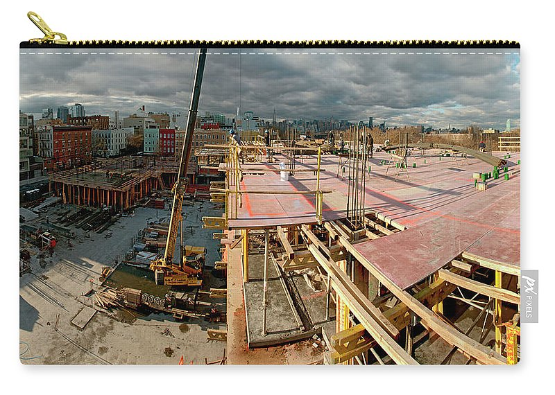 Panoramic Carry-all Pouch featuring the photograph Raising Bedford 2 by S Paul Sahm