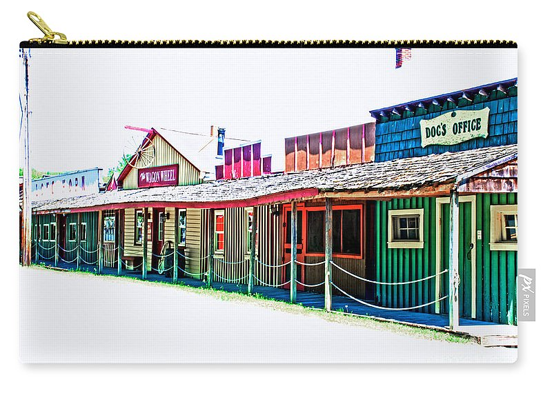 Tonemapped Carry-all Pouch featuring the photograph Ranch Buildings - Hdr White by Mark Dodd