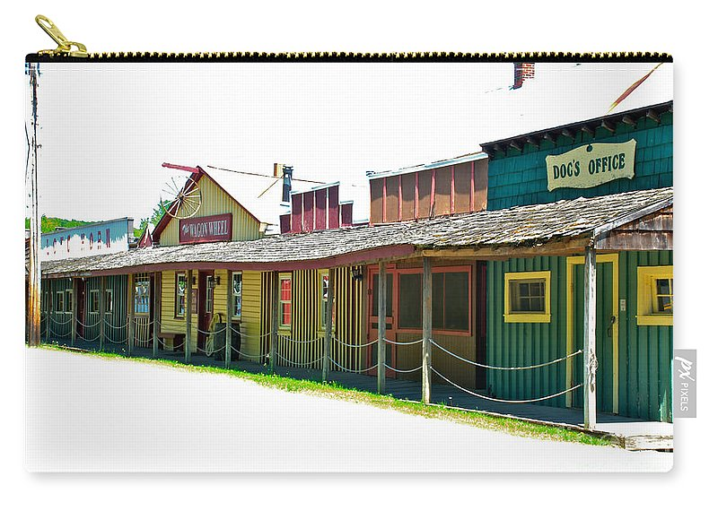 River Valley Ranch Carry-all Pouch featuring the photograph Ranch Buildings - White by Mark Dodd