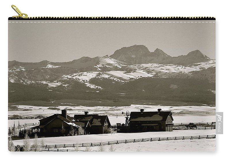 Ranch Carry-all Pouch featuring the photograph Ranch With A View by Eric Tressler