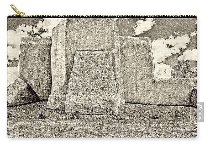 Ranchos Carry-all Pouch featuring the photograph Ranchos Church Old Photo by Charles Muhle
