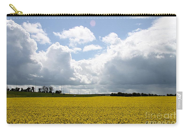 Rape Field Carry-all Pouch featuring the photograph Rape Field by Christiane Schulze Art And Photography