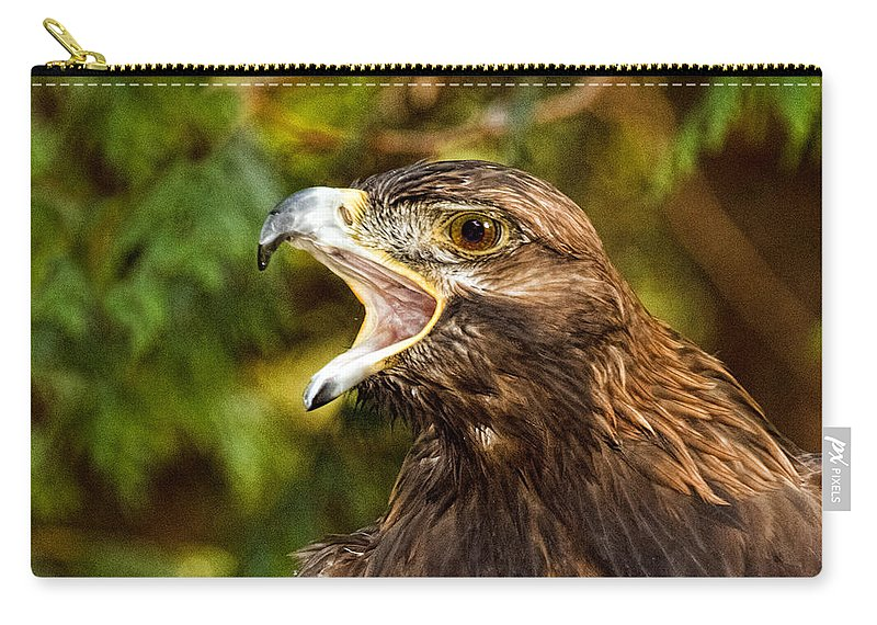 Raptor Rage Carry-all Pouch featuring the photograph Raptor Rage by Wes and Dotty Weber