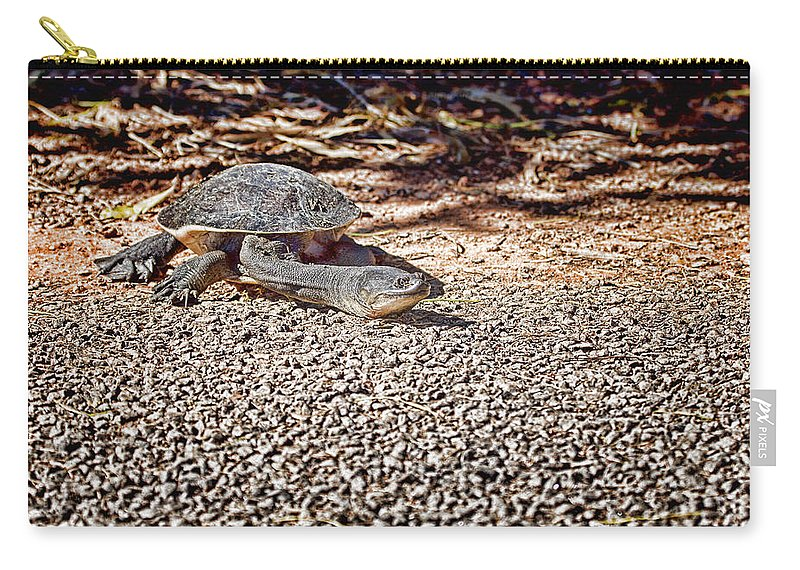 Long Necked Turtle Carry-all Pouch featuring the photograph Reaching Out by Douglas Barnard