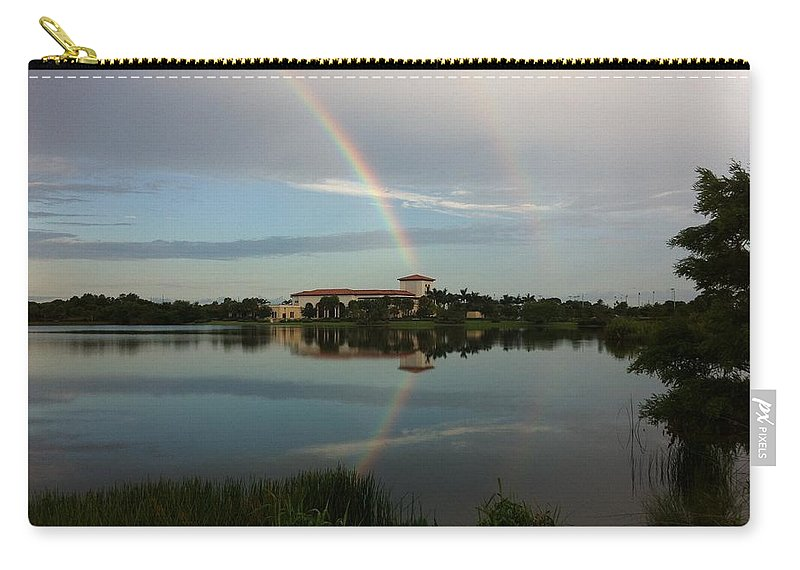 Carry-all Pouch featuring the photograph Reading Rainbow by Kimberly Mohlenhoff