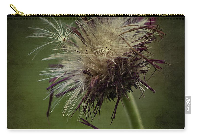 Seeds Carry-all Pouch featuring the photograph Ready To Fly Away... by Clare Bambers