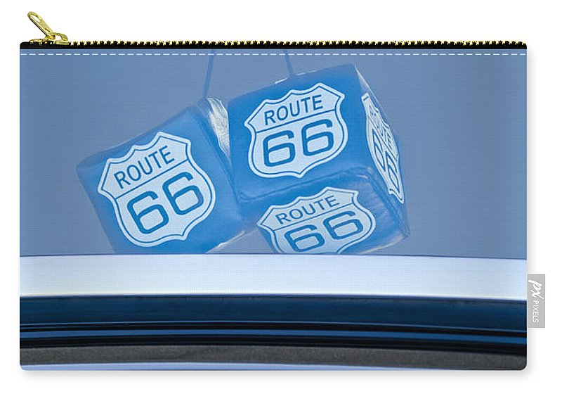 Rear View Mirror Dice Carry-all Pouch featuring the photograph Rear View Mirror Dice by Jill Reger