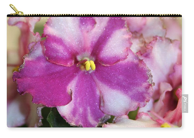 Carry-all Pouch featuring the photograph Rebel Petals by Susan Herber