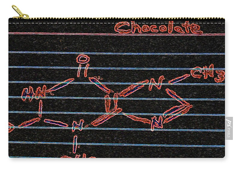 Recipe Card Carry-all Pouch featuring the photograph Recipe For Chocolate by Bill Owen