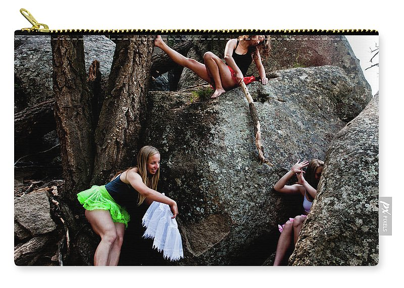 Humorous Carry-all Pouch featuring the photograph Recruiting Wild Untamed Dancers by Scott Sawyer