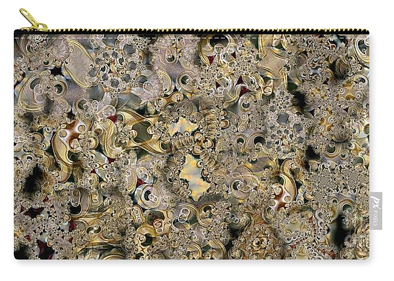 Abstract Carry-all Pouch featuring the digital art Recycled by Ron Bissett