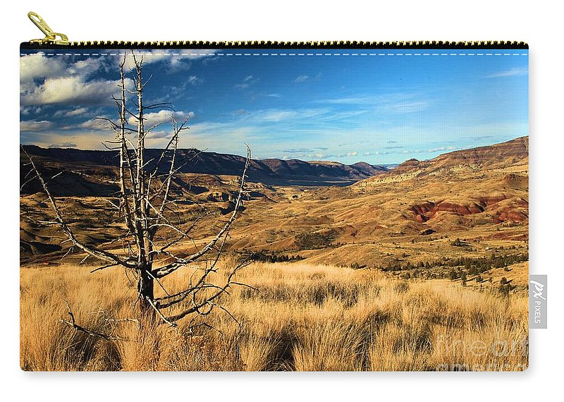 John Day Fossil Beds National Monument Carry-all Pouch featuring the photograph Red And Gold by Adam Jewell