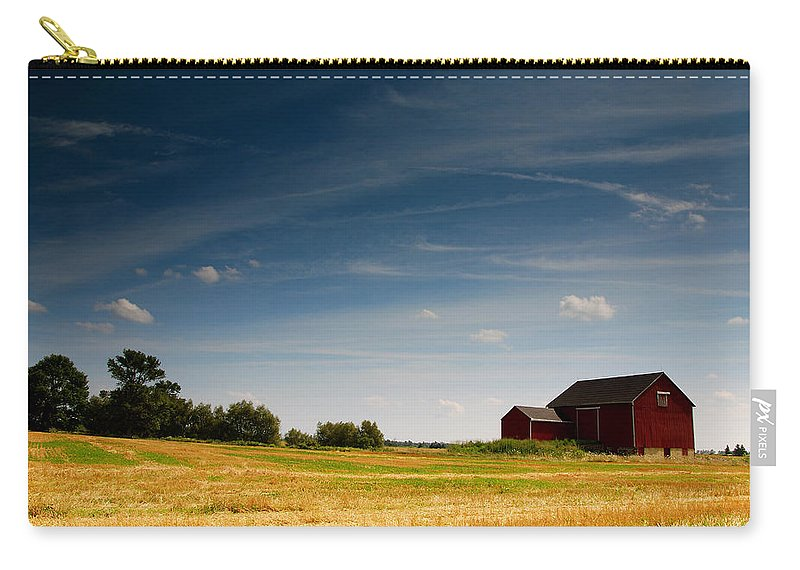 Barn Carry-all Pouch featuring the photograph Red Barn by Cale Best