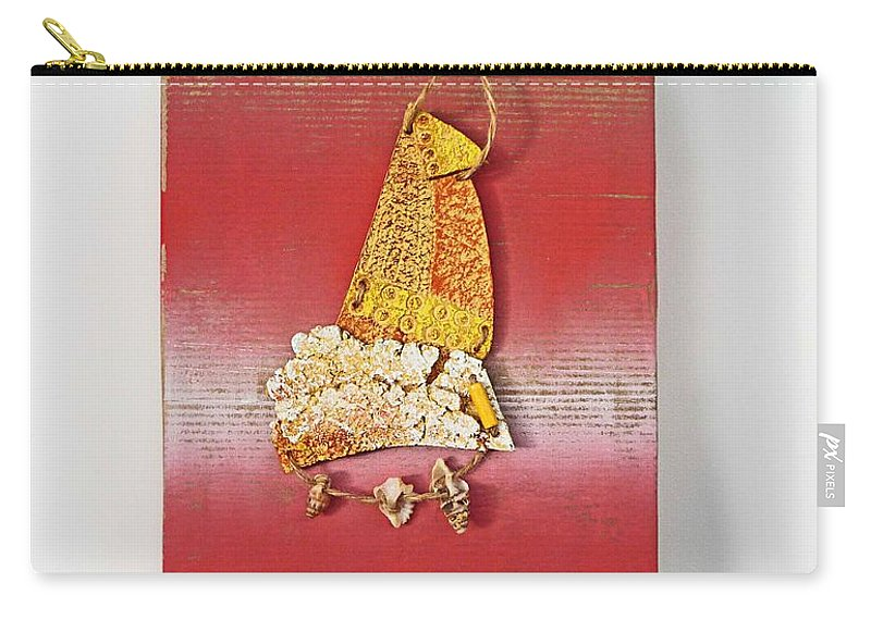 Sculpture Carry-all Pouch featuring the painting Red Box by Charles Stuart