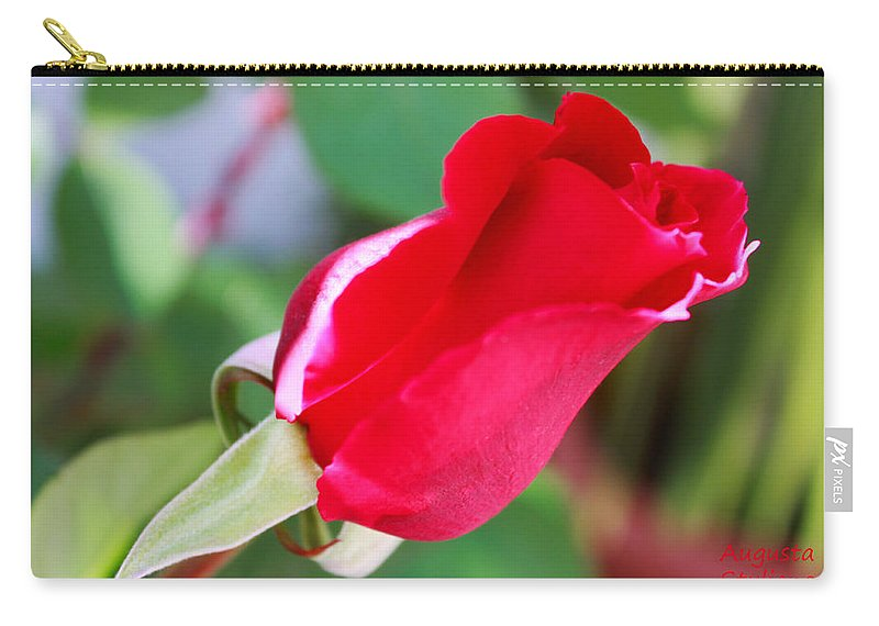 Augusta Stylianou Carry-all Pouch featuring the photograph Red Bud by Augusta Stylianou