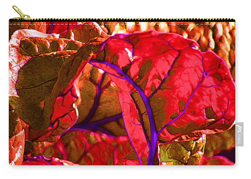 Chard Carry-all Pouch featuring the photograph Red Chard by Rory Sagner