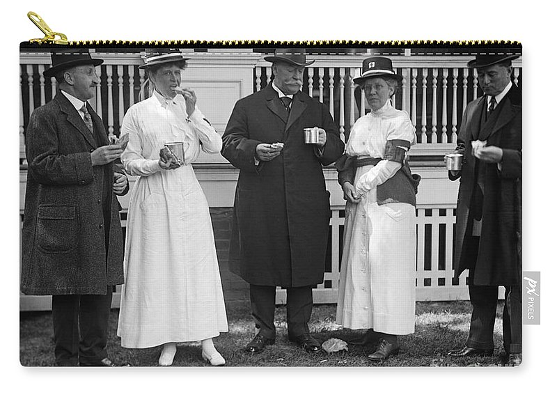 1917 Carry-all Pouch featuring the photograph Red Cross Luncheon, 1917 by Granger