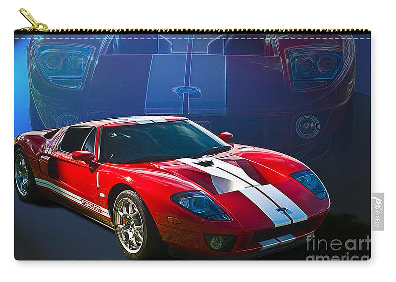 Red Carry-all Pouch featuring the photograph Red Ford Gt40 by Stuart Row