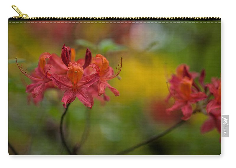 Rhodies Carry-all Pouch featuring the photograph Red Groups by Mike Reid