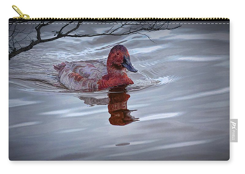 Art Carry-all Pouch featuring the photograph Red Headed Duck by Randall Nyhof