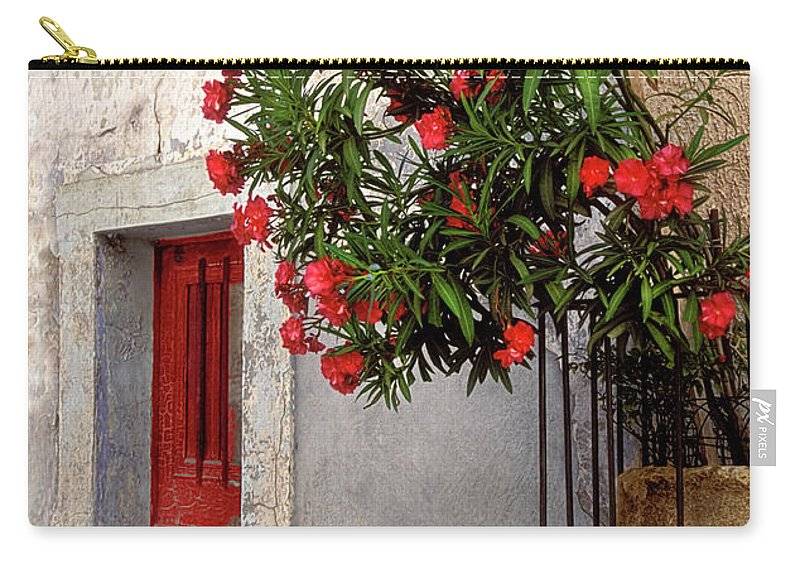 Red Door Carry-all Pouch featuring the photograph Red In Provence by Dave Mills