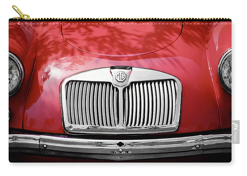 Mg Carry-all Pouch featuring the photograph Red Mg by Mark Greenberg