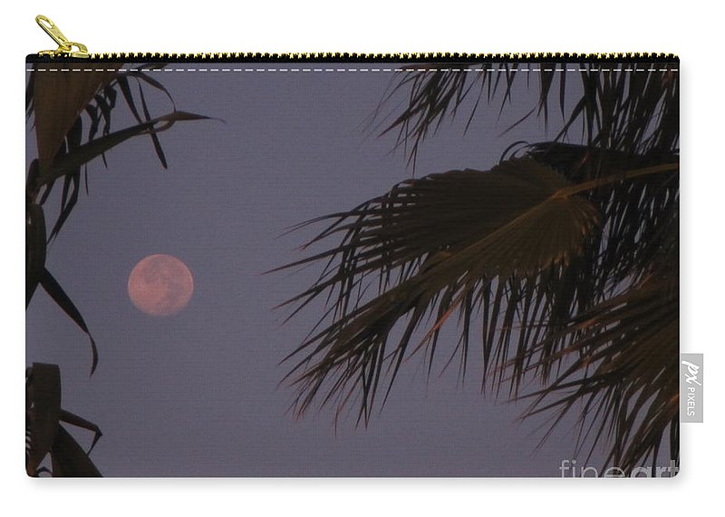 Moon Carry-all Pouch featuring the photograph Red Moon by John Malone
