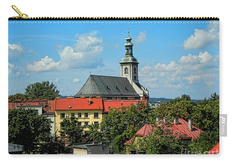 Cieszyn Carry-all Pouch featuring the photograph Red Roofed Wonders by Mariola Bitner