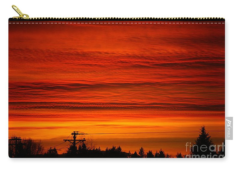 Storms Carry-all Pouch featuring the photograph Red Skies At Night by Randy Harris