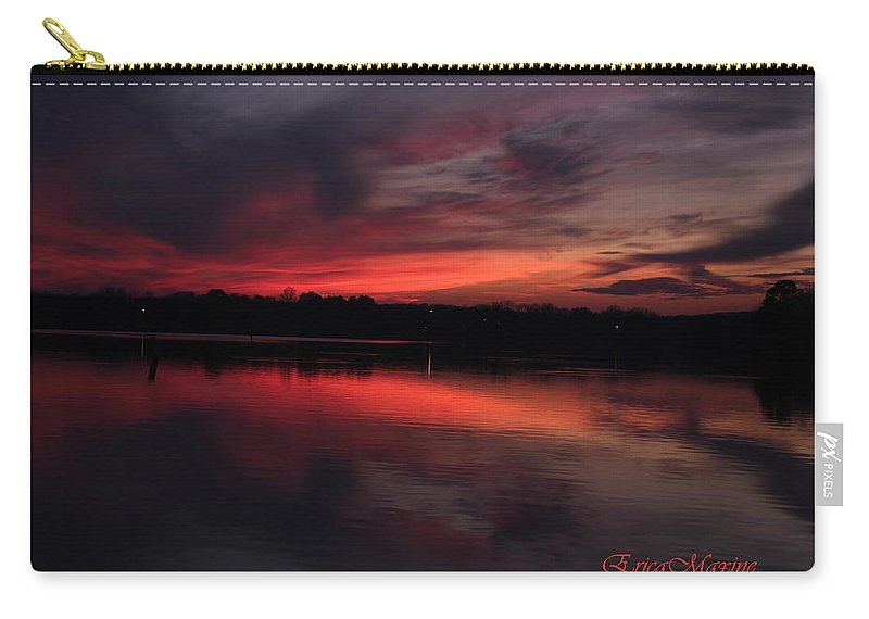 Tn Carry-all Pouch featuring the photograph Red Sky Sunset by Ericamaxine Price