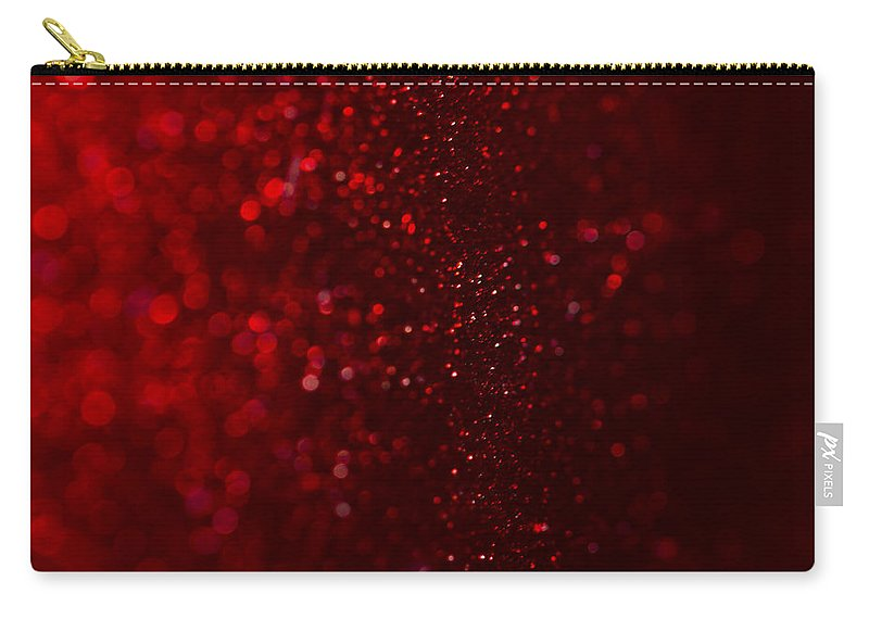 Clare Bambers Carry-all Pouch featuring the photograph Red Sparkle by Clare Bambers