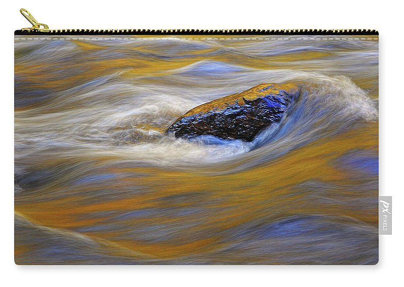 Water Carry-all Pouch featuring the photograph Reflected Color by Dave Mills