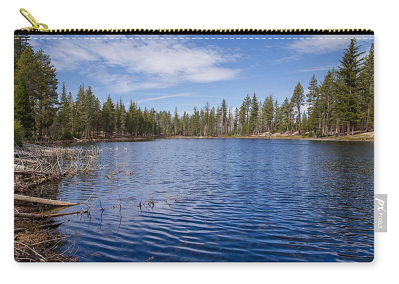 Lassen Volcanic National Park Carry-all Pouch featuring the photograph Reflection Lake by Greg Nyquist