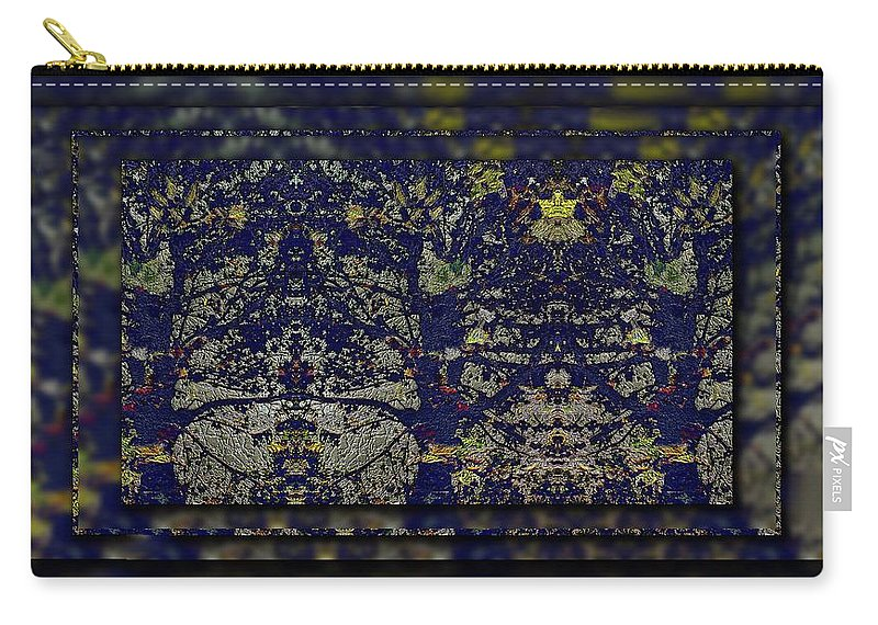 Abstract Carry-all Pouch featuring the digital art Reflections Of An Arboretum by Tim Allen
