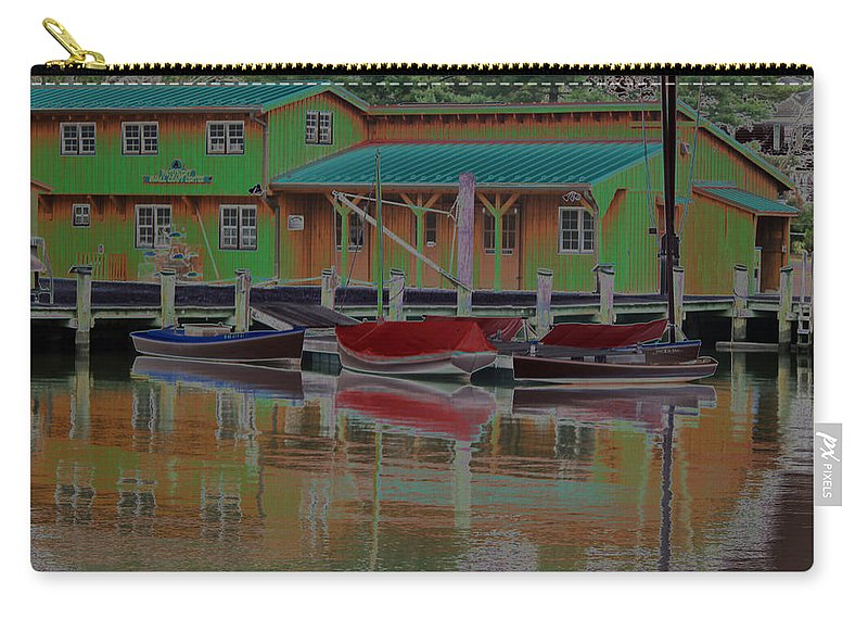 Color Carry-all Pouch featuring the photograph Reflections Of Color by Carolyn Stagger Cokley