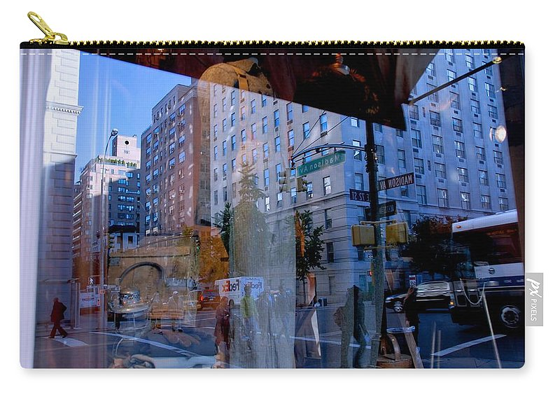 New York Carry-all Pouch featuring the photograph Reflections On Madison Avenue by Eric Tressler